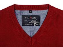 Bawełniany sweter Marvelis - czerwony
