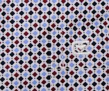 Casa Moda Comfort Fit  – koszula z trójkolorowymi kwadracikami - krótki rękaw
