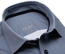 Koszula Olymp Modern Fit 24/Seven – luksusowa elastyczna z ciemnoniebieskim wzorem siatki