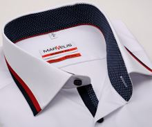Koszula Marvelis Modern Fit – biała z i designerskim kołnierzem - extra długi rękaw