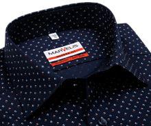 Koszula Marvelis Modern Fit - ciemnoniebieska z trójkolorowym wzorem