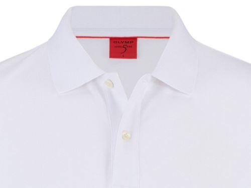 Koszulka polo body fit Olymp Level Five z kołnierzykiem - biała