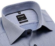 Koszula Olymp Modern Fit – niebieska z wyszytym wzorem - extra długi rękaw