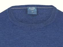 Sweter Olymp z wełny Merino - dekolt okrągły - niebieski