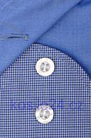 Koszula Olymp Level Five – w granatową kratkę z kołnierzykiem i mankietami