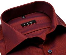 Koszula Eterna Modern Fit – z drobnym czerwono-niebieskim wzorem