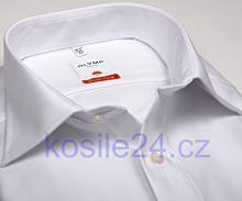 Koszula Olymp Luxor Modern Fit - biała z podwójnymi mankietami