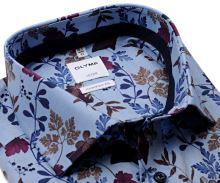 Koszula Olymp Comfort Fit – luksusowa jasnoniebieska w kolorowy kwiatowy wzór