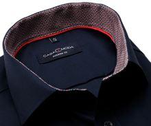 Koszula Casa Moda Modern Fit – ciemnoniebieska z czerwono-niebieską stójką wewnętrzną i mankietem