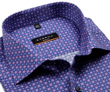Koszula Eterna Slim Fit - z niebiesko-różowymi pierścieniami - super długi rękaw