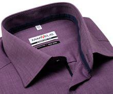 Koszula Marvelis Comfort Fit Fil-a-Fil – fioletowa z wewnętrzną stójką i mankietami