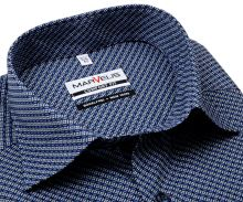 Koszula Marvelis Comfort Fit - ciemnoniebieska z niebiesko-białym wzorem