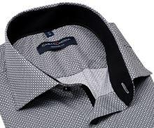 Koszula Casa Moda Modern Fit Premium – z czarno-siwym wzorem - super długi rękaw
