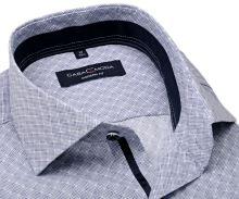 Koszula Casa Moda Modern Fit – w niebiesko-biały wzór z ciemnoniebieską wewnętrzną stójką i mankietem