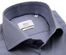 Koszula Eterna 1863 Modern Fit Two Ply - luksusowa z niebiesko-białym wyszytym wzorem