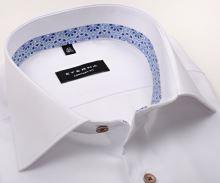 Koszula Eterna Comfort Fit Lotus Shirt - biała luksusowa z wewnętrzną stójką - krótki rękaw