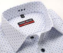 Marvelis Body Fit – koszula z wyszytą strukturą i drobnym niebieskim wzorem