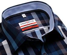 Koszula Marvelis Modern Fit – w wyrazistą kratę ze stójką wewnętrzną