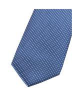 Krawat super slim Olymp – jasnoniebieski z białym wzorem