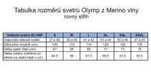Sweter Olymp z wełny Merino - dekolt okrągły - ciemnoniebieski