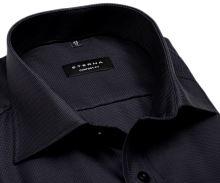 Koszula Eterna Comfort Fit – luksusowa antracytowa z wplecionym wzorem - extra długi rękaw