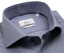Koszula Eterna 1863 Slim Fit Two Ply - luksusowa z niebiesko-białym wyszytym wzorem