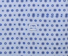 Koszula Olymp Modern Fit – jasnoniebieska w niebieskie wzory z wewnętrzną stójką - krótki rękaw