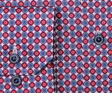 Koszula Eterna Modern Fit - z czerwono-niebieskimi pierścieniami