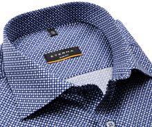 Koszula Eterna Slim Fit - niebieska z jasnoniebieskim i białym wzorem - super długi rękaw