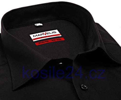 Koszula Marvelis Modern Fit Uni - czarna - extra długi rękaw