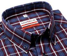 Koszula Marvelis Modern Fit – w czerwono-niebieskią kratę - extra długi rękaw