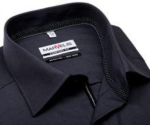 Koszula Marvelis Comfort Fit Chambray – antracytowa z wewnętrzną stójką i mankietami