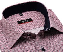 Koszula Eterna Modern Fit - z czerwono-niebieskim wzorem, wewnętrzną stójką i mankietem
