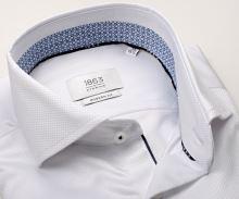Koszula Eterna 1863 Modern Fit Two Ply – ekskluzywna białą z wewnętrzną stójką i mankietem