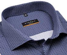 Koszula Eterna Slim Fit – z niebieskim nadrukowanym wzorem - super długi rękaw