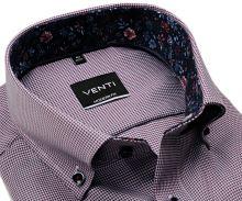 Koszula Venti Modern Fit – z czerwono-niebieskim wzorem i kwiatową wewnętrzną stójką - super długi rękaw