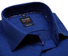 Koszula Olymp Level Five – niebieska w białe drobne kropki - extra długi rękaw
