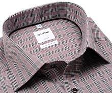 Koszula Olymp Luxor Comfort Fit - czerwonoczarną w kratkę