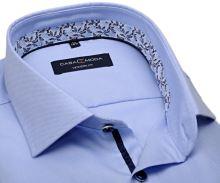 Koszula Casa Moda Modern Fit – jasnoniebieska z delikatną strukturą i designerską stójką wewnętrzną