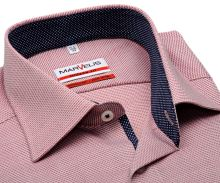 Koszula Marvelis Modern Fit – czerwona z wyszytym wzorem i wewnętrzną stójką