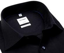 Koszula Olymp Comfort Fit – ciemna z unikatowym wyszytym wzorem
