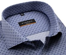 Koszula Eterna Slim Fit Twill - ciemnoniebieska z białym wzorem