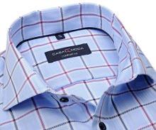 Koszula Casa Moda Comfort Fit – jasnoniebieska z granatową i fioletową kratkę
