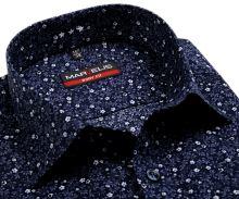 Koszula Marvelis Body Fit – ciemnoniebieska z nadrukowanym wzorem