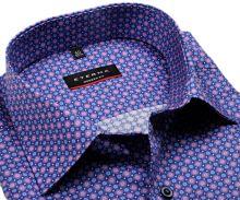 Koszula Eterna Modern Fit - z niebiesko-różowymi pierścieniami - super długi rękaw