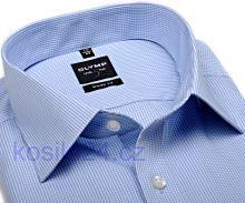 Koszula Olymp Level Five – w jasnoniebieską krateczkę - extra długi rękaw