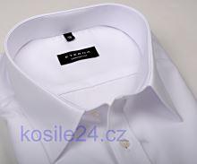 Koszula Eterna Comfort Fit Chambray - biała z podwójnymi mankietami