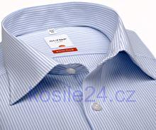 Koszula Olymp Luxor Modern Fit - w jasnoniebieskie prążki