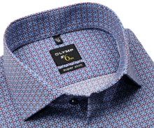 Koszula Olymp Super Slim – z niebiesko-czerwonym wzorem