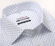 Koszula Marvelis Comfort Fit – biała w niebieski wzór